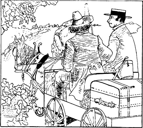 Home Comforts LAMINATED POSTER Men On A Wagon Illustrations Poster Print 24 x 36 by Home Comforts