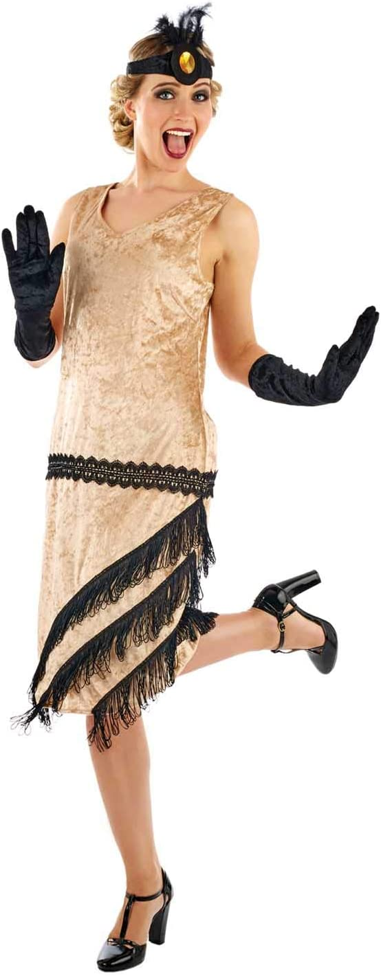 Roaring 20s Costumes- Flapper Costumes, Gangster Costumes Fun Shack Womens 20s Charleston Girl Costume Adults Flapper Cocktail Dress Outfit - Medium  AT vintagedancer.com
