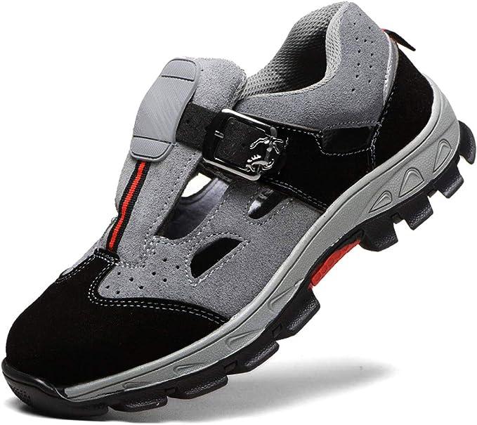 Neu Arbeitsschuhe Sommer Sandalen Sicherheitsschuhe S3 Stahlkappe Atmungsaktiv