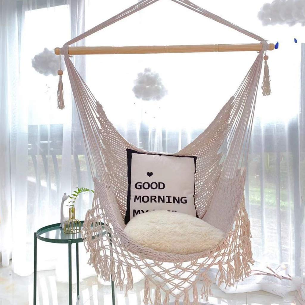 GLY Hanging Chair Hammock Chair Chairs for Bedroom Hanging Hammock Chair for Kids Room Decor Patio Decor Teen Room Decor Hold Up 150 Kg