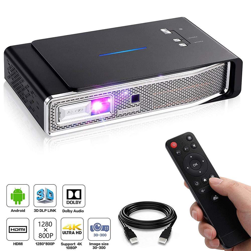 TIANQING Mini proyector Proyector de Video Protable Soporte 3D DLP ...