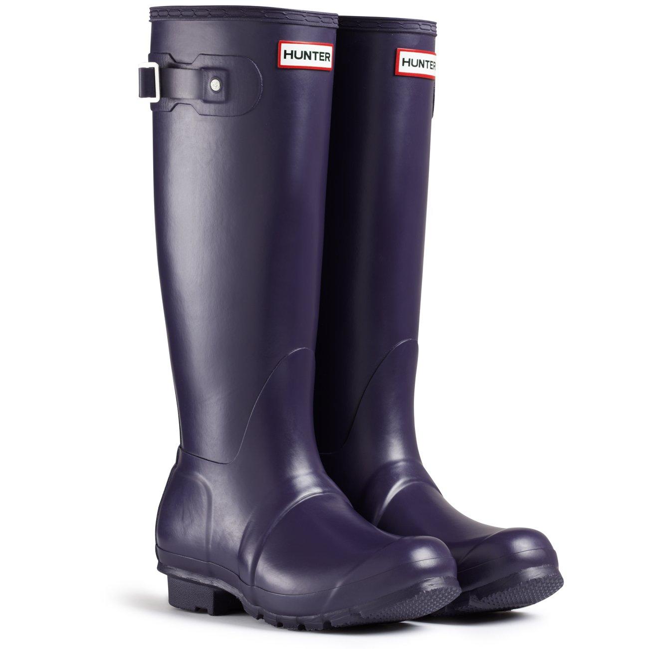 Women's Hunter Boots Original Tall Snow Rain Waterproof Boots - Dark Olive - 11