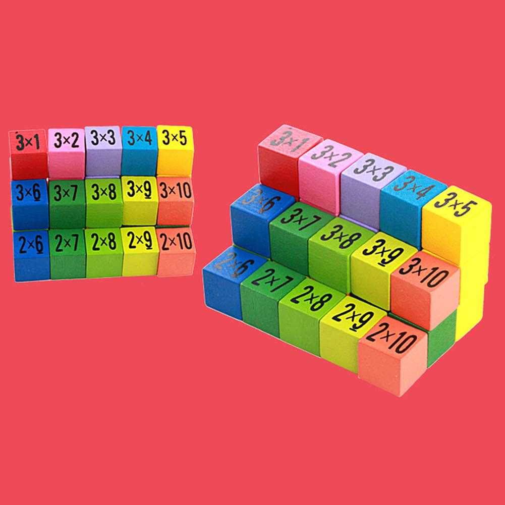 FeiyanfyQ 10x10cm Wooden 99 Multiplication Table Math Teaching Aids Educational Kid Toy