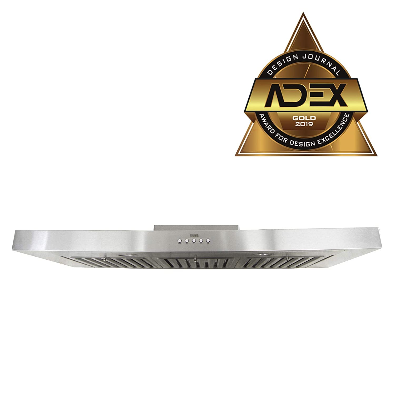 KOBE RAX2142SQB-1 Brillia 42-inch Under Cabinet Range Hood, 3-Speed, 750 CFM, LED Lights, Baffle Filters