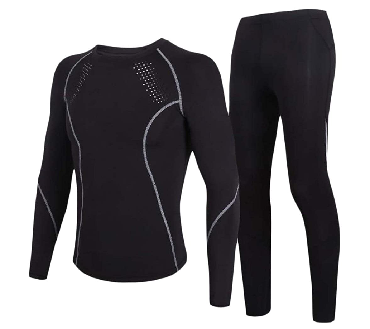 YUSKYMen Slim Quick Dry Stretch Long Sleeve Compression Baselayer