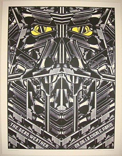 2009 The Dead Weather - Paris Concert Poster by Rob Jones