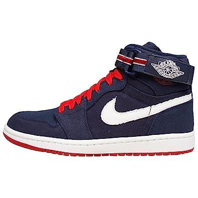 best service 58ec3 de63f Nike Air Jordan 1 Mid Baskets Homme 342132-461-44.5-10.5 Bleu