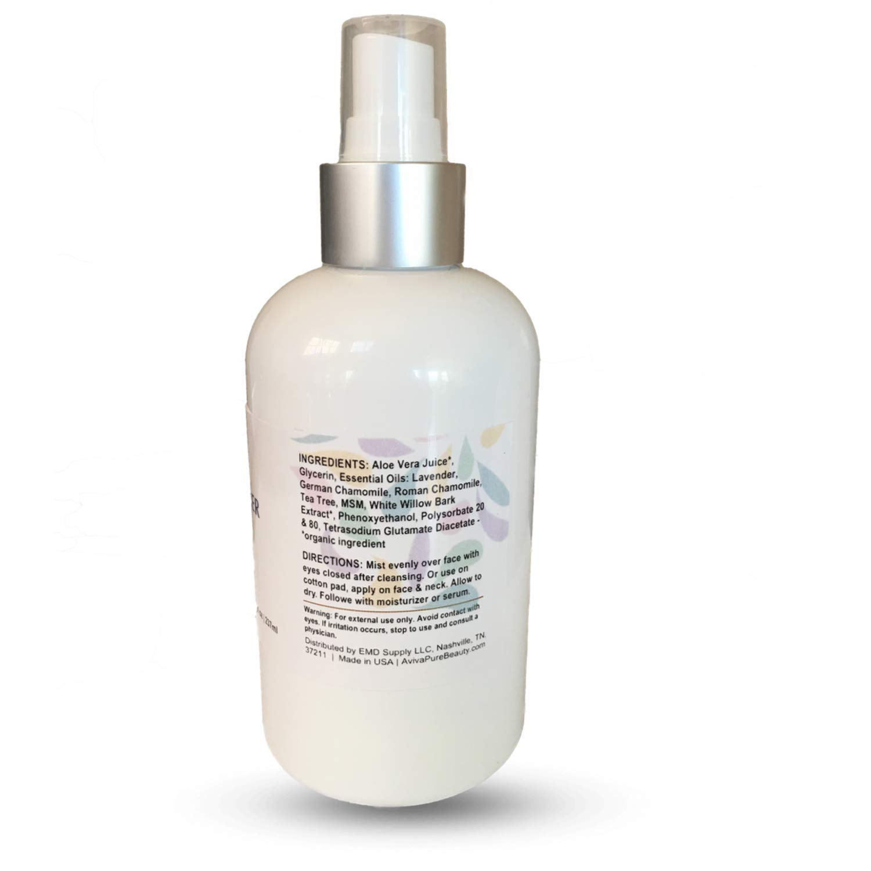 Amazon com : Organic Face Toner Spray with Lavender, Aloe