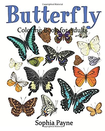 Butterfly Coloring Book for Adults (Butterflies Coloring book) (Volume 2)
