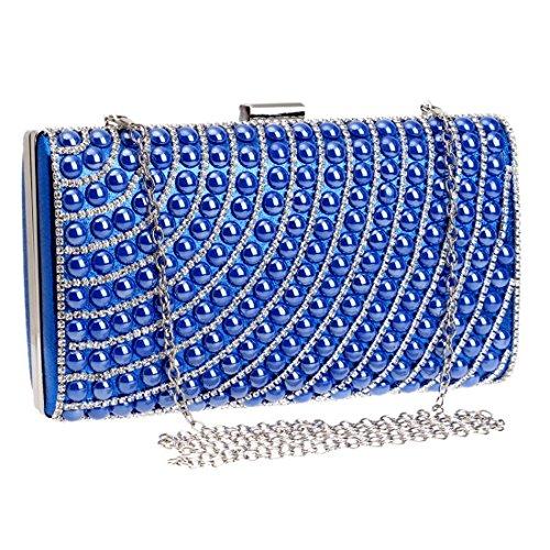 Blue Square color Handbag Blue Diamond Clutch Hemotrade Lady Shoulder Bag Evening Small Dress Purse Oxg4X