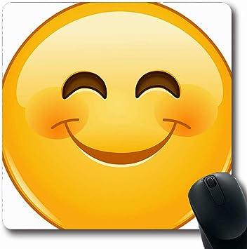 Mousepad Oblong Alegre Emoji amarillo Emoticono sonriente ...