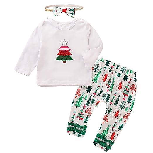 bf1a2e3f7 Amazon.com  Toddler Baby Girls Ruffle Long Sleeve Shirt + Long Pants ...