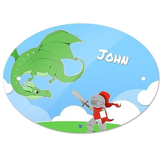 Eurofoto - Cartel para Puerta con Nombre de John y diseño de ...