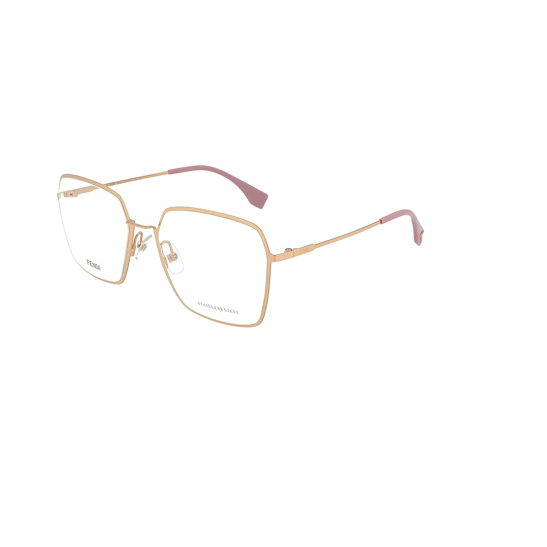 bb5a2a57b70fb Amazon.com  Fendi FF0333 Rose Gold Clear Lens Sunglasses  Clothing
