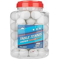 DEWIN Pelota de Ping Pong - Pelota de Tenis de Mesa Pelota de Tenis de Mesa de 3 Estrellas Pelotas de Ping Pong para Entrenamiento de competición Entretenimiento 60 Piezas