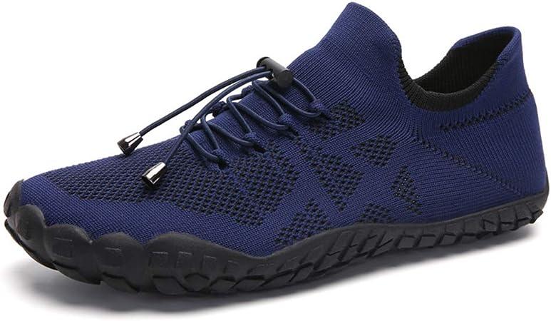 SKTWOE Zapatos de Creek, Tela de Tejido Volador Zapatillas Transpirables de Moda de Cinco Dedos con Zapatos de Malla Transpirables para Hombres para Hacer Ejercicio,Azul,43EU: Amazon.es: Hogar