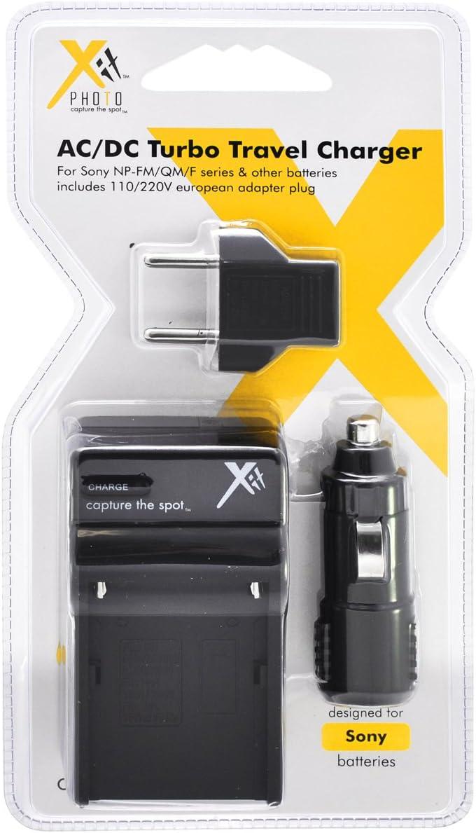 Black Xit XTCHNPF975 Battery Charger for Sony NPF975//FM500