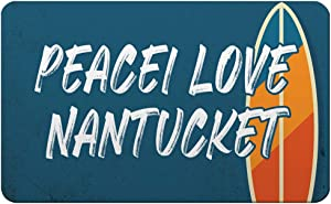 Makoroni - Peacei Love Nantucket Surfing Beach Des#3 Refrigerator Wall Magnet 2.75x3.5 inc