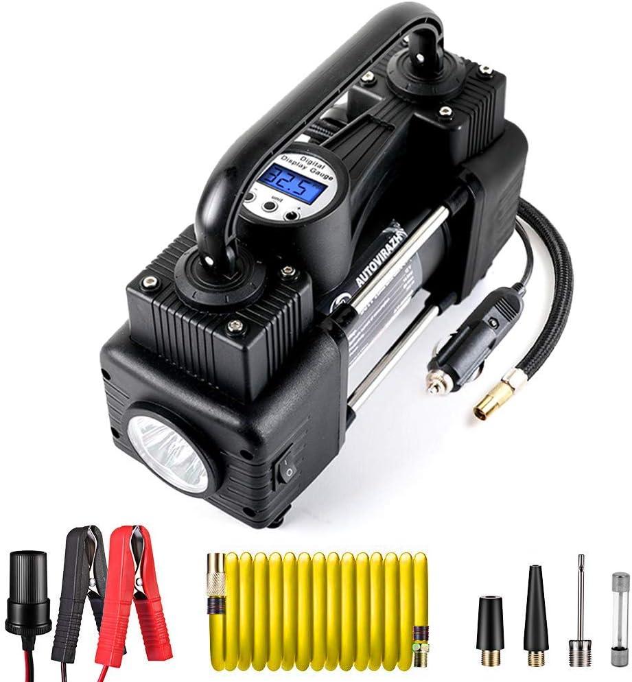12V Tire Inflator Car Mechanical Air Pump Compressor Electric LED Portabl/_ns