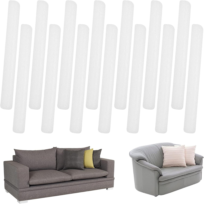 Non Slip Foam Grips for Couch Slipcovers, 14 PCS Stretch Sofa Slipcover Foam Tucker Grips Antislip Foam Stick, Slipcover Tuck Grips for Sofa Cover Furniture Protector Seam Strip
