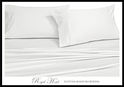 Royalu0027s Solid White 1000 Thread Count 4pc King Bed Sheet Set 100 Percent