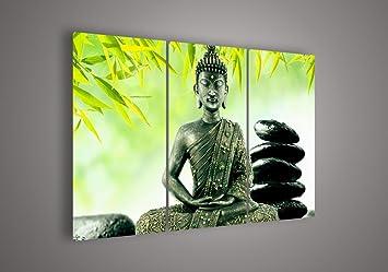 3pcs Set India Sakyamuni Buddha Paintings Canvas God Half Face Painting Religion Art On