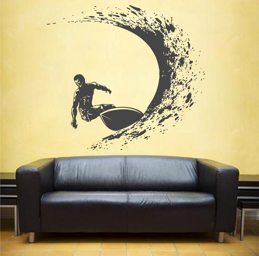 Amazon.com: ik1120 Wall Decal Sticker surf board wave ocean Hawaii ...