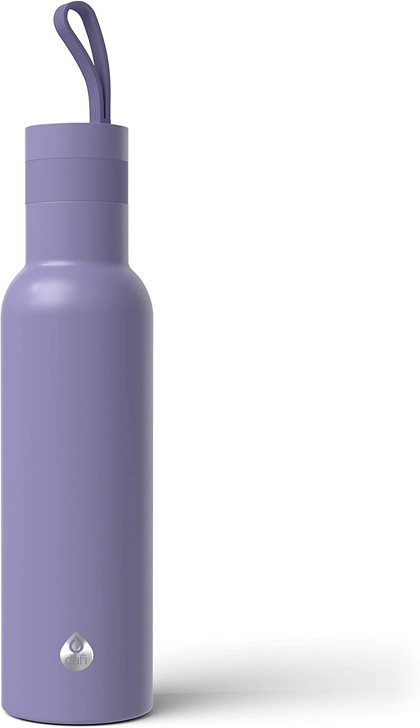 Dafi Double Wall Insulated Stainless Steel Thermal Bottle 17 fl oz Made in Europe BPA-Free (Violet)