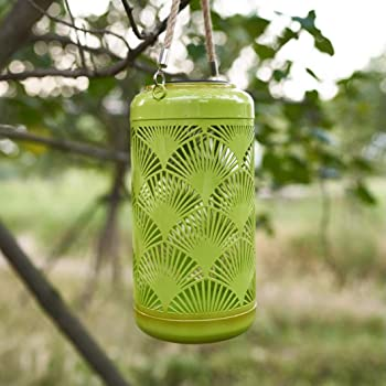 Chisheen LED Hanging Solar Lights Outdoor Lantern