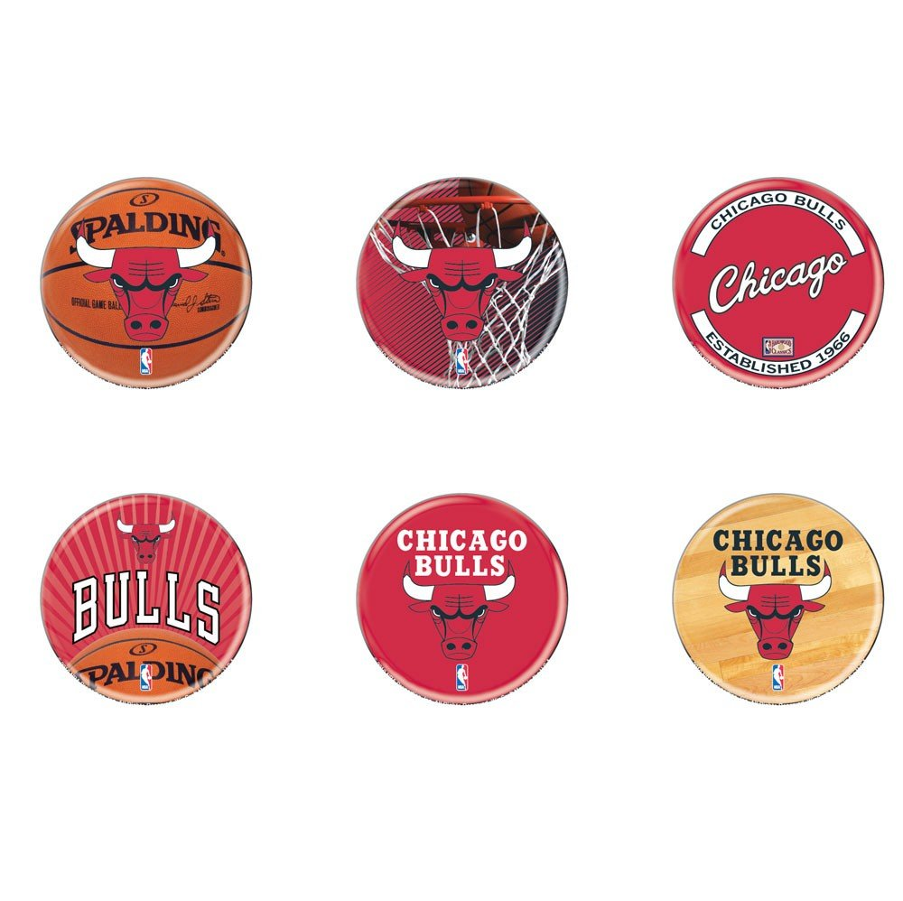 NBA Chicago Bulls WCR33058210 Round Button , 2 by WinCraft