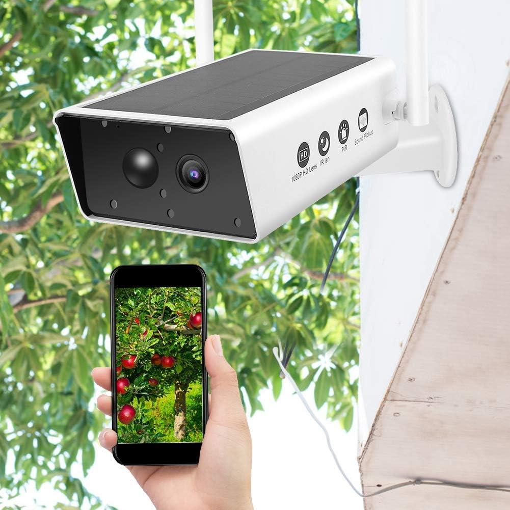 cam/éra de Surveillance ext/érieure sans Fil 1080P HD WiFi Cam/éra de Surveillance /à Faible /énergie Solaire Conception /étanche de la Batterie avec /écran de Surveillance en Temps r/éel