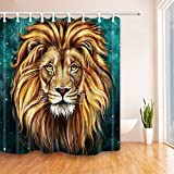 NYMB The lion head 69X70 inches Mildew Resistant Polyester Fabric Shower Curtain Set Fantastic Decorations Bath Curtain