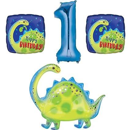 Amazon.com: Dinosaur 1er cumpleaños globo Bundle decoración ...