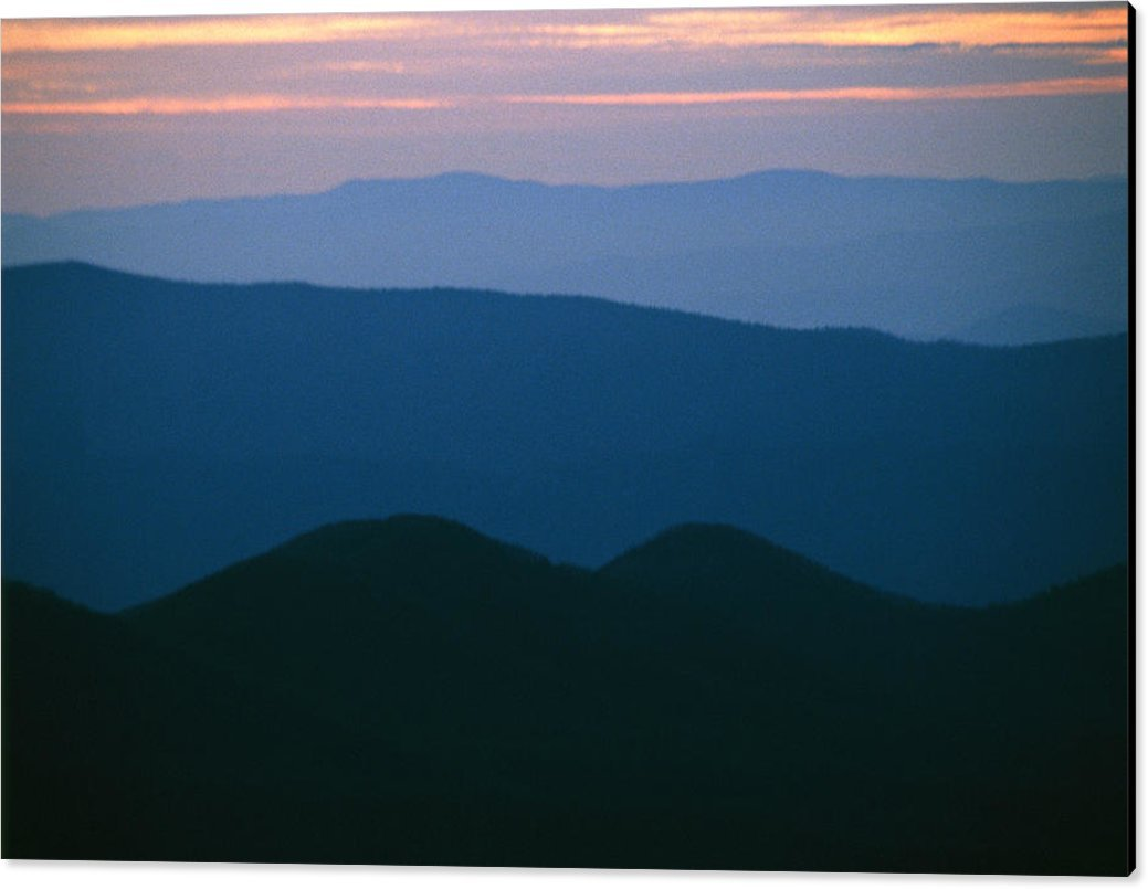 ''Sunset Over The Blue Ridge Mountains'' by National Geographic, Canvas Print Wall Art, 60'' x 39.75'', Black Gallery Wrap, Glossy Finish