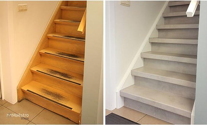Escalón Light Grey Stone revestimiento para escaleras (MDF – Fai Da Te fácil y rápido: Amazon.es: Bricolaje y herramientas