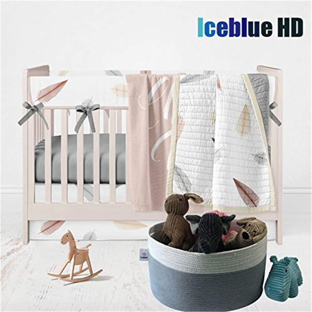 ICEBLUE HD Extra Large Storage Basket Oval Shaped Toy Organizer Blue Basket Kids Storage Organizer Fabric Storage Bin