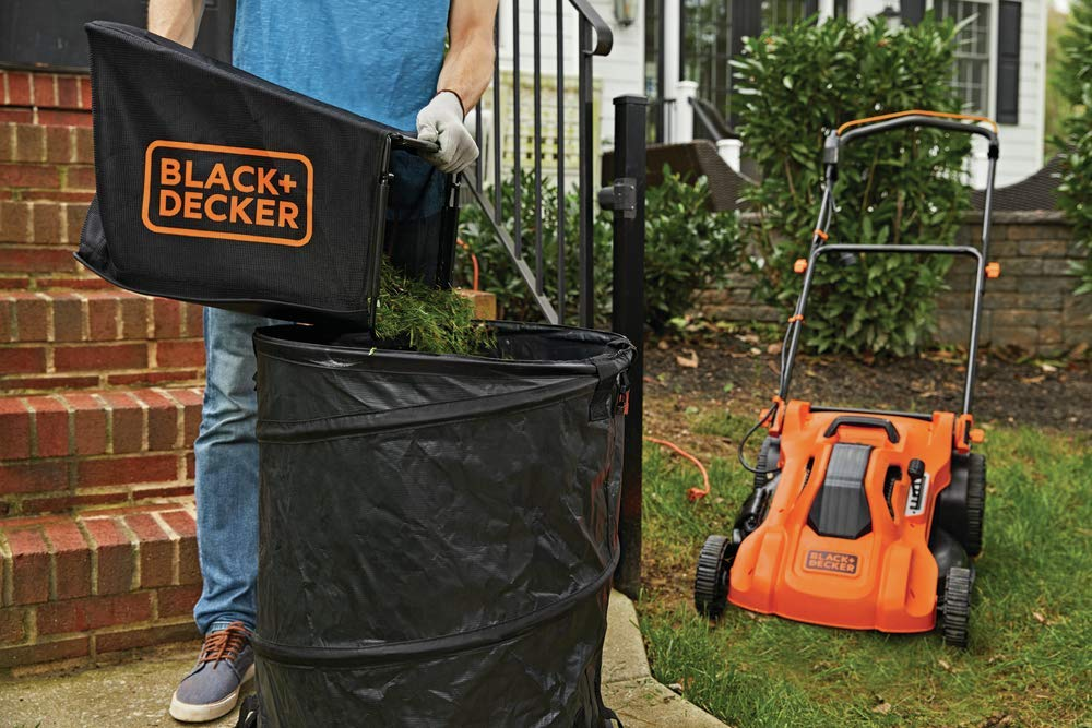 BLACK+DECKER Lawn Mower, Corded, 13 Amp, 20-Inch (BEMW213) 9 Push mower comes with 13 Amp motor to power through tall grass Electric mower can adjust height with 6 settings for precise cutting specifications Push lawn mower comes with easy Fold handle for convenient storage when not in use