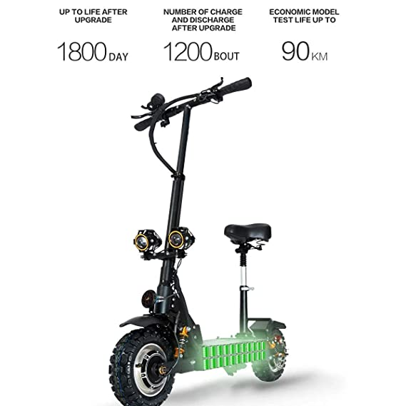 Amazon.com: ZMJJ Electric Scooter Adult Foldable Offroad ...