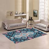 your-fantasia Tribal Mexican Vintage Ethnic Seamless Pattern Area Rug Modern Carpet Home Decor