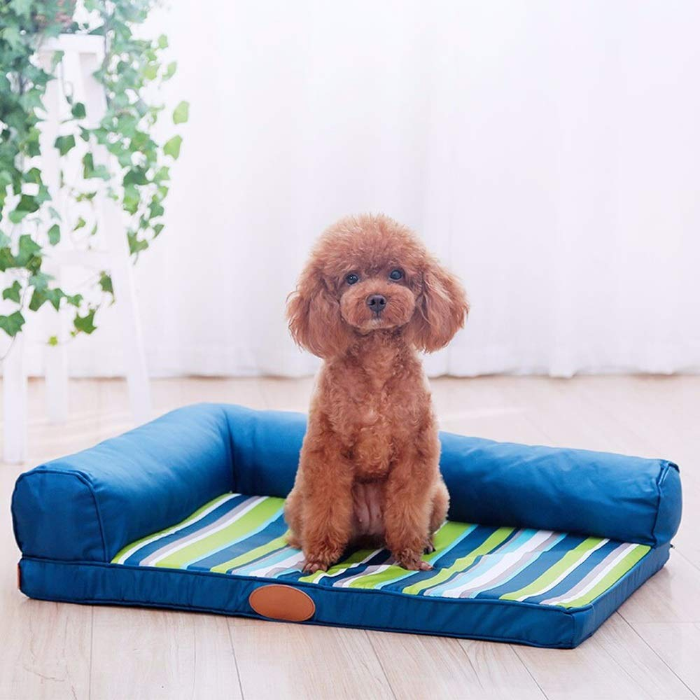 L Alppq Oxford Cloth Pet Kennel Washable Small Medium And Large Dog Sofa Four Seasons Universal Dog Mat Mattress Rectangle Pet Bed Easy To Clean Comfort Fur Dog Bed Cushion Pet Bed (Size   L)