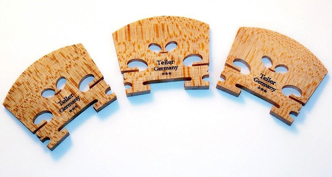 3 Viola Teller Germany Bridge 48mm Foot Measure of Fine Bosnian Maple VWWS