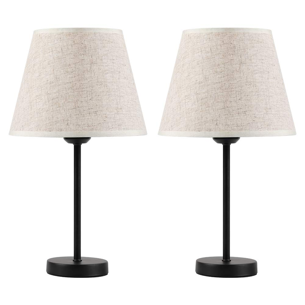 Haitral Bedside Table Lamps Small Nightstand Lamps Set
