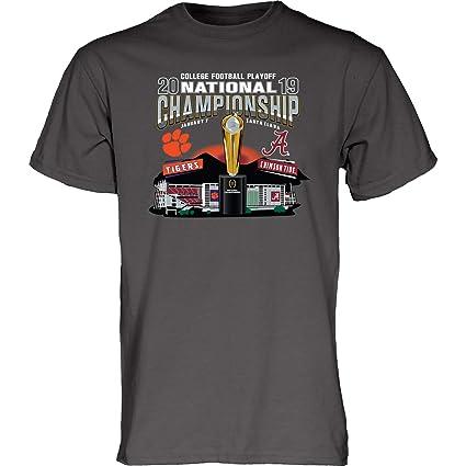 d30d0c594 Blue 84 Alabama Clemson 2019 CFP National Championship Game Dueling Gray T- Shirt (S