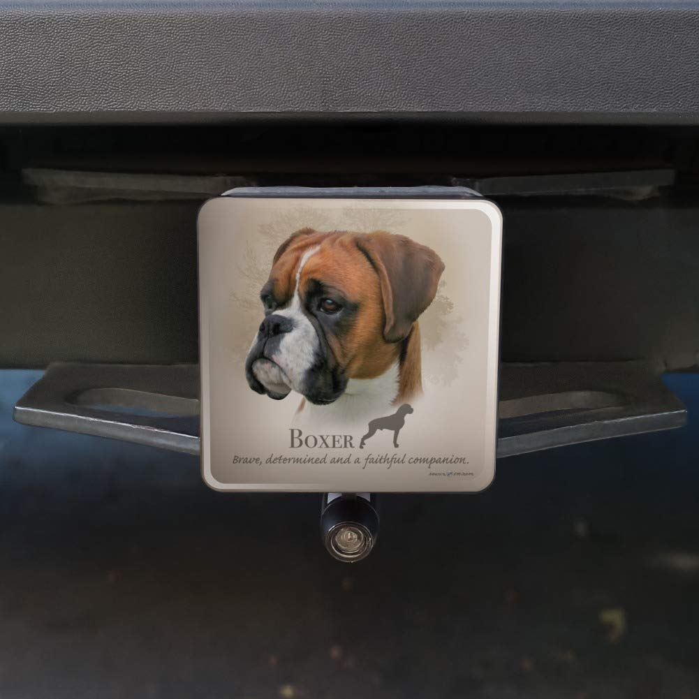 Graphics and More Boxer Dog Breed Tow Trailer Hitch Cover Plug Insert 2