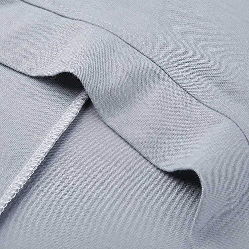 Femme Femmes Shirt Blanche Manteau Longues pour Hiver Taille Femme T Chemise Manches Gris Manches Grande ALIKEEY Longues IZqCxwHznq