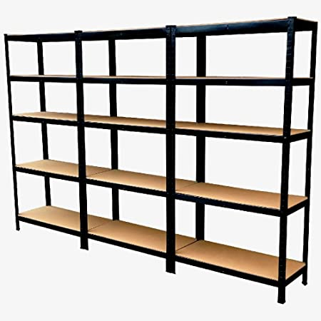 5 Tier Garage Racking Shelving Storage Warehouse Racking Shelves Home Heavy Duty