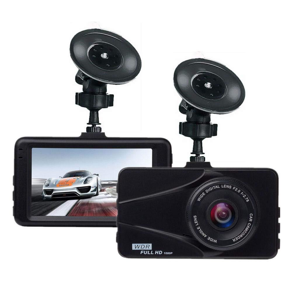 OOOUSE ダッシュカム、カーレコーダーカメラ 1080P FHD DVR カードライビングレコーダー 3インチ LCDスクリーン 170度 広角 Gセンサー WDR 駐車モニター ループレコーダー モーション検知   B07MG4D6F2