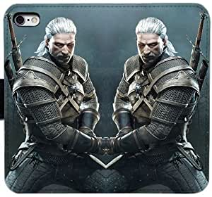Generic Custom Flip Wallet Case,The Witcher 3 Wild Hunt Leather Case for iPhone 6 6S 4.7 inch Black S-45123589