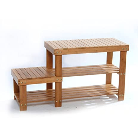 Shoe Storage Benches For Entryway Rack Shelf Boot Organizer Bamboo Hallway  Bench (Children)