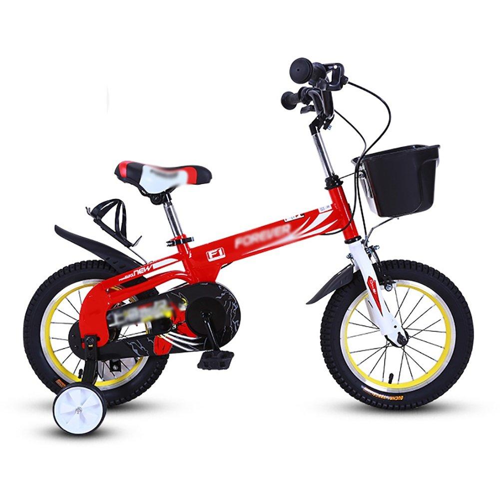 子供の自転車12 14インチの男の子と女の子子供の自転車2-5-8歳のベビーカーの生徒の自転車自転車緑青赤 B07DXHVKKX 12 inch|赤 赤 12 inch